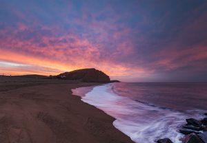 East beach mottled sunrise
