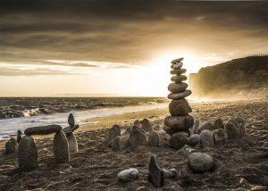 Hive Beach stones