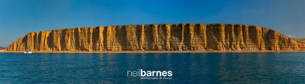 East cliff at West Bay from the sea