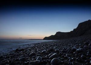 Eype beach blue hour