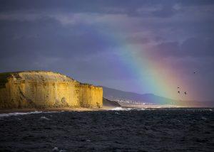 Hive Beach rainbow